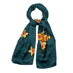 Accessories - Long Scarf With Big Gold Star